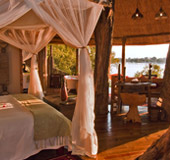 Tongabezi room looking over the Zambezi