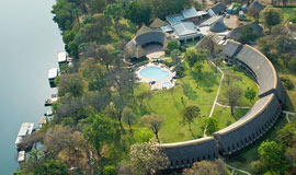 Aerial view of Azambezi Lodge