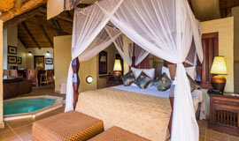 Bedroom at David Livingstone Lodge