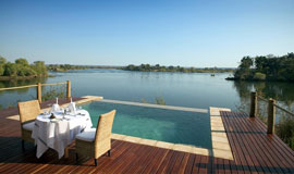 Pool next to the Zambezi river